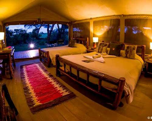 En rejse i Tanzania - Sovepladser Ol Kinyei Camp - www.rejsecenterdjursland.dk