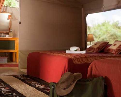 En rejse i Tanzania - Sovepladser på Camp Porini - www.rejsecenterdjursland.dk