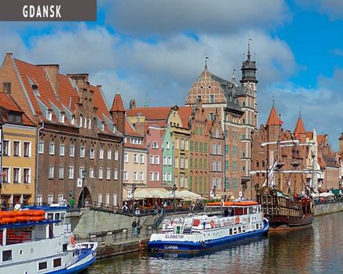 Miniferie i Gdansk med www.rejsecenterdjursland.dk