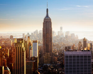 Empire State Building - - USA's østkyst i bil eller tog