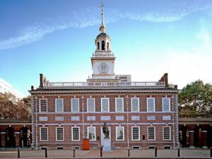 Independence Hall Philadelphia - - USA's østkyst i bil eller tog